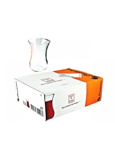 Paşabahçe Paşabahçe 42021 optikli çay bardağı 6X12=72ad çay bardak Renkli